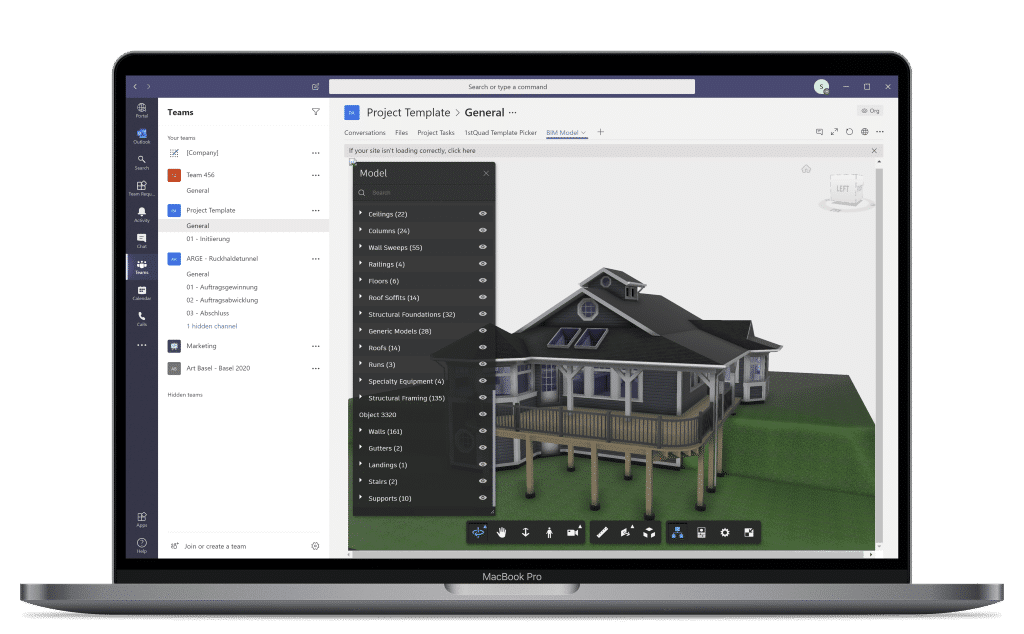 BIM360 for Microsoft Teams