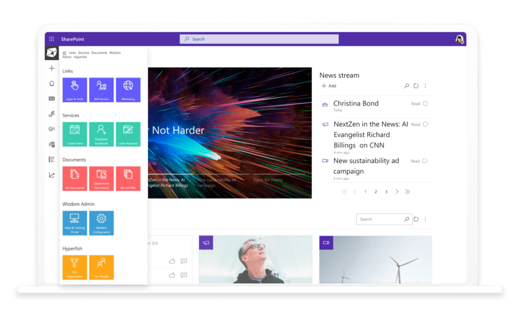 Microsoft Teams und SharePoint Intranet Integration mit LiveTiles Everywhere